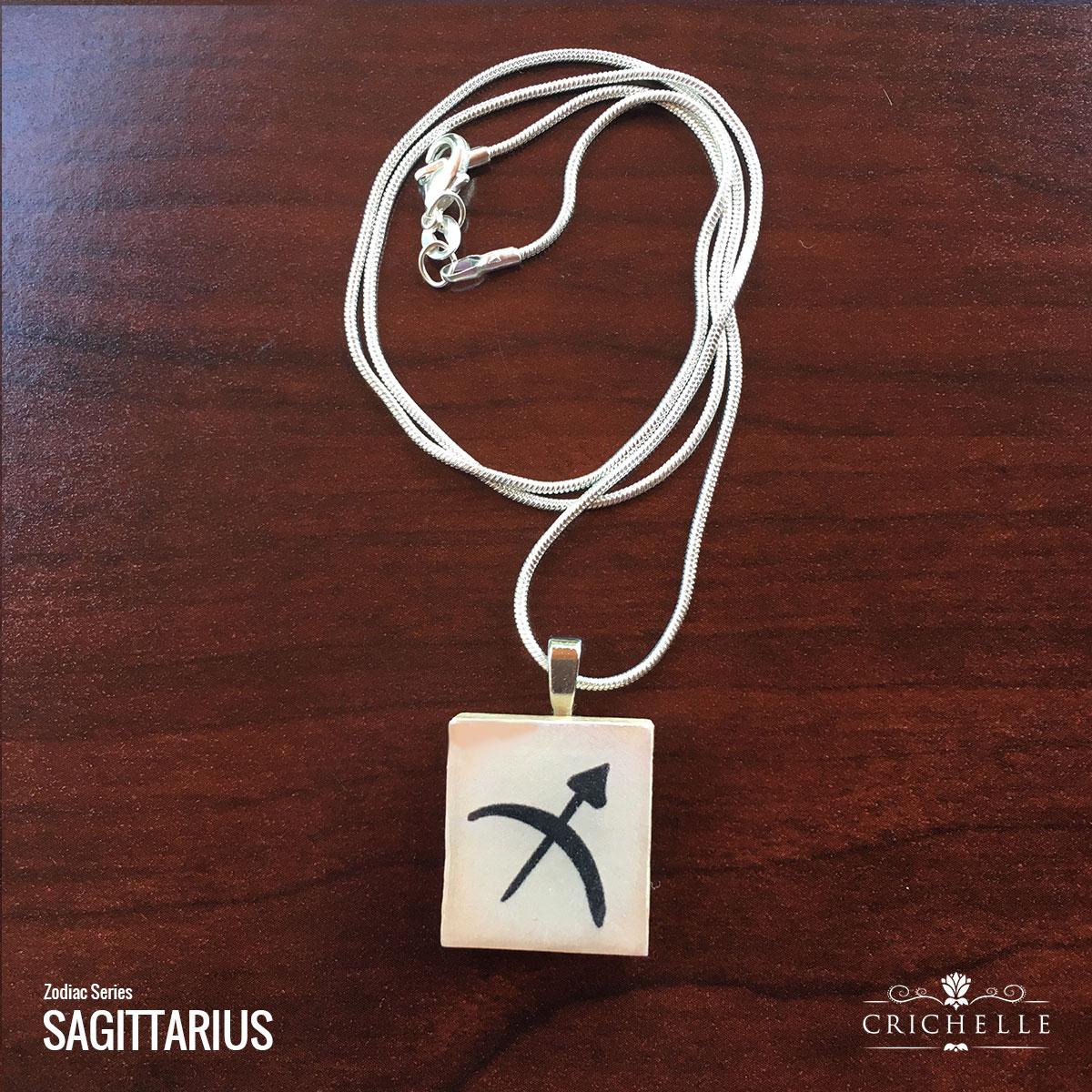 Sagittarius scrabble tile pendant necklace crichelle sagittarius scrabble tile pendant mozeypictures Gallery