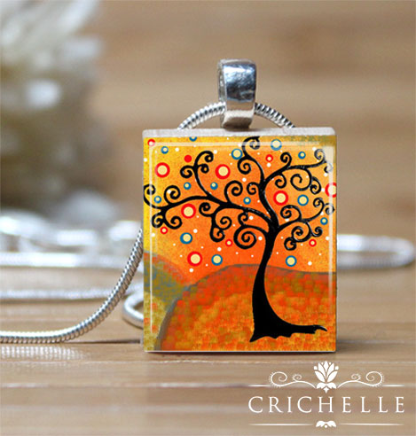 Whimsical tree 1 scrabble tile pendant necklace crichelle whimsical tree 1 pendant necklace aloadofball Image collections